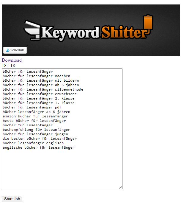 Mit dem Keyword-Shitter schnell SEO-Keywords finden